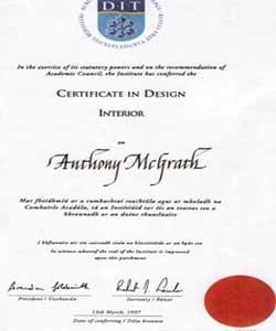 Amazing Interior Design Certificates Magnificent Ddecorators Tony Mcgrath Is  President Of The Association Of Master . Design