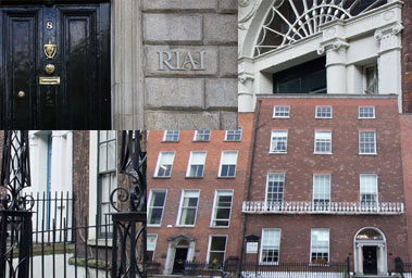 RIAI - Royal Institute of Architects of Ireland located at 8 Merrion Square, Dublin 2.